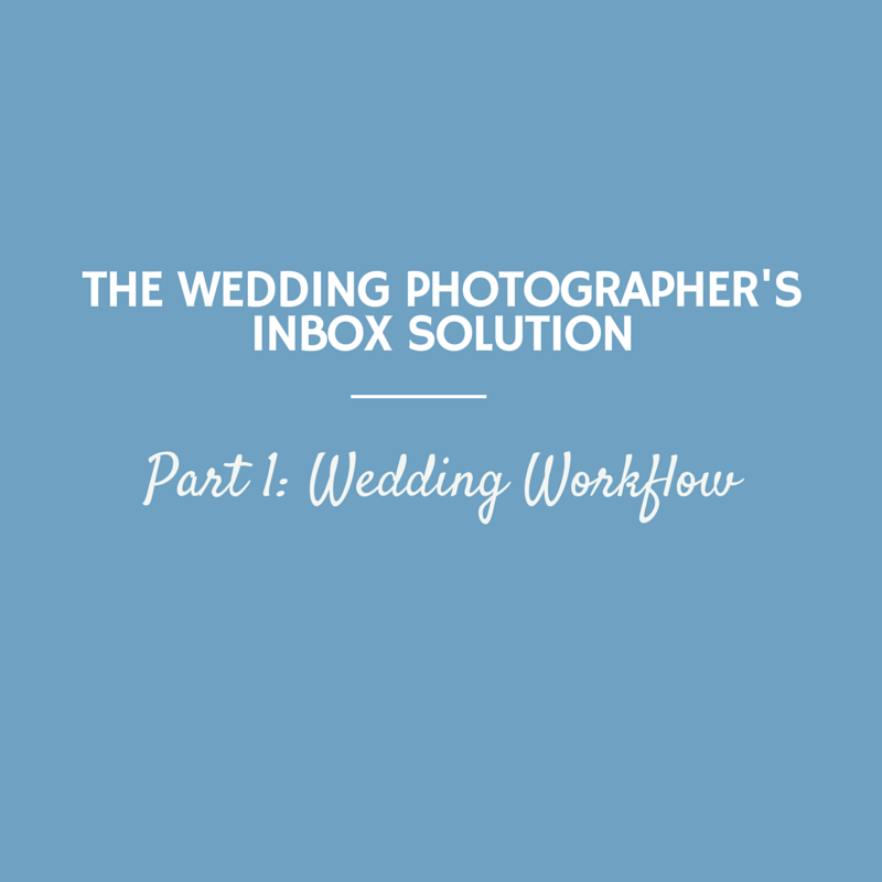 The Wedding Photographer's Inbox Solution, Part 1: Wedding Workflow